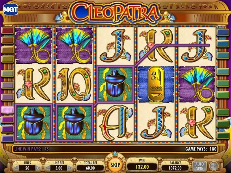Juega con dinero real con este juego tan famoso: la tragaperras Cleopatra